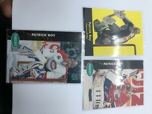 91/92 Parkhurst Patrick Roy Lot Of 3 All Star Canadiens