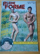 PLEINE FORME #47 female bodybuilding muscle magazine LOU FERRIGNO 1-82 (Fr)
