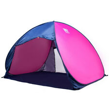 3-4 Person Pop Up Pole Camping Tent Beach Hiking Fishing Shade Shelter