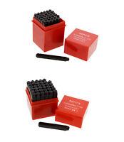 """ABN Metal 1/4"""" & 1/8"""" Inch Stamping 72-Piece Kit – Embossing Engraving Stamp Set"""