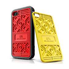 iPhone 4 4S Shoe Sneaker Case, 2 changeable colors red and yellow cover