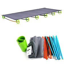 Outdoor Portable Folding Bed Camping,Tent Aluminium Alloy Cots, Strong Bearing