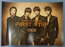 CNBLUE - 1st STEP OFFICIAL POSTER  HARD TUBE CASE UNFOLD