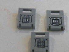 :lego 3 portes gris clair de  coffres set 7033 / 3 old light grey container door