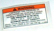 POLARIS PURE OEM NOS ATV  WARNING DECAL7172682