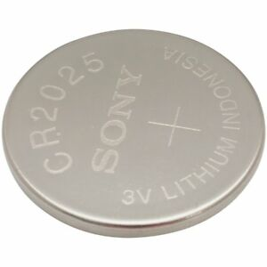 5 Pcs Strip of Sony CR2025 Lithium 202 Coin Batteries
