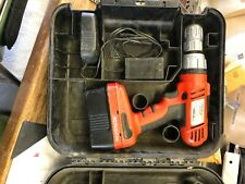 (2) Black and Decker Fire Storm drills with cases. No batteries or charger