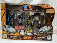 TRANSFORMERS HFTD HUNTERS RUMBLE SIDESWIPE BARRICADE HUNT FOR THE DECEPTICONS