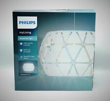 Philips myLiving Pendelleuchte Sandalwood Dekolampe, 60W, E27, Weiß NEU OVP