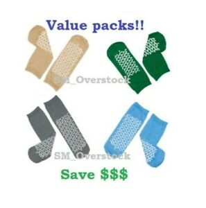 Soft Sole Slipper Socks, Non Skid Hospital Travel Slipper Socks ALL SIZES