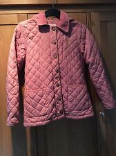 Mini Boden Pink Quilted Hooded Girls Coat Age 11 12 Years