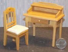 Dollhouse Miniature Small Oak Desk Chair Set 1:12 inch scale D60 Dollys Gallery