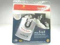 SanDisk ImageMate 5 in 1 2.0 USB Memory Card Reader Writer Easy Transfer Button