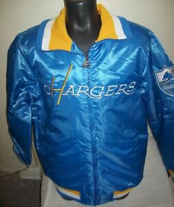 LOS ANGELES CHARGERS  Starter Full Zip  Jacket SKY BLUE  M L XL 2X