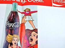 Coca Cola Coke USA 1960 Unterlage American Football Regeln Referee Signal Sheet