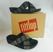 FITFLOP Women's Strobe Slide Sandals in Black - Size 8/39