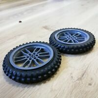 LEGO PARTS - x2 qty Wheel Tire 100.6mm D. Motorcycle Excellent