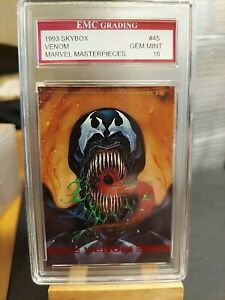 VENOM 1993 Marvel Masterpieces Card EMC GRADED 10 NEW MOVIE SOON! VINTAGE SKYBOX