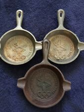 Cast Iron 2002 Olympic Minature Skillet Lot Of 3