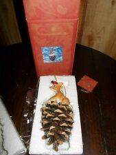 "Christopher Radko ""Pinecone Perch"" Woodland Winds Ornament"