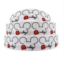 "BTY 1"" Disney Mickey Heads Grosgrain Ribbon Scrapbook Lanyards Lisa"