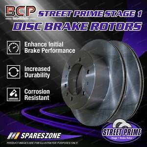 Pair Front BCP Vented Disc Brake Rotors for Rover 3500 SD1 1982-1986