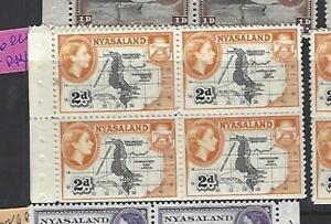 NYASALAND  (PP2810B)  QEII 2D MAP  BOOKLET PANE ,SELVEDGE LEFT  MNH