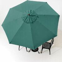 Outdoor Patio Umbrella Canopy Top Cover Replacement Green Fit 9' 8-rib Umbrella