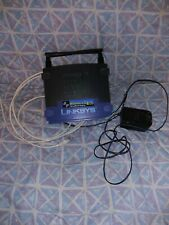 LINKSYS WIRELESS-G  BROADBAND ROUTER WRT54G With Power Supply And Cable