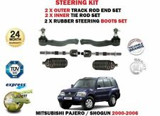 FOR MITSUBISHI SHOGUN PAJERO 2000-> 2x OUTER + INNER TIE TRACK RACK END ROD BOOT