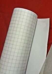 STICK IT PVC WHITE SELF ADHESIVE per mtr Lampshade making art craft 85cm wide