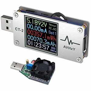 USB Power Meter Tester Digital Multimeter Load Current Voltage Detector DC Speed