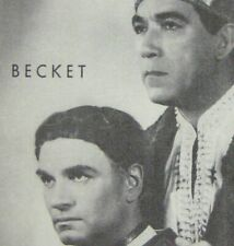 Becket Playbill 1960 Laurence Olivier Anthony Quinn Jean Anouilh