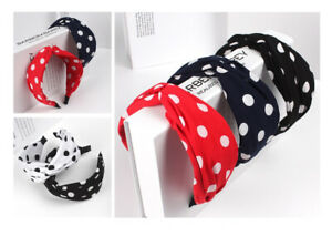 XXL Hairband Knot Polka Dots Punkt Fabric Hairbands Hairband 7-8 CM 4 Colours