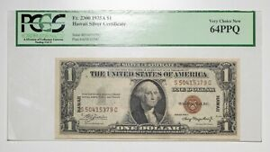 1935 A $1 PCGS 64PPQ Hawaii Emergency Note Item#P14045
