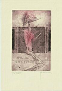 Exlibris erotic Ex libris by BUGAN ZDENEK / Slovakia