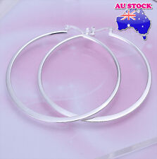 Wholesale 925 Sterling Silver Filled 55MM High Polished Big Hoop Earrings