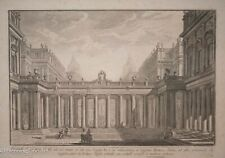 "Giovanni Battista Piranesi Etching ""The Royal Courtyard"" C.1750, Rare & Framed!"