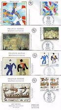 FRANCE - Relations culturelles France-Suède - E (6) FDC - YT 2866 à 2871 - TTB