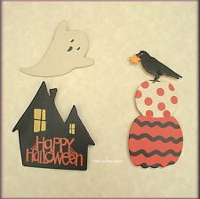 Happy Halloween Metal Magnets Set of 3 by Roeda® Free U.S. Shipping