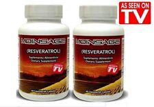 2 MOINSAGE 2 BOTTLES chardon colaginaXXI prostata diabetes resveratrol ANTIAGING