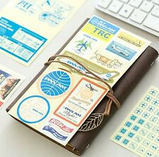 Authentic Travelers Notebook Planner Stickers Pan Am 2017 Edition 6 Pieces Set