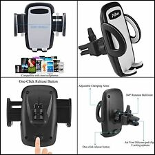 Car Smart Phone Holder Mount Stand By Air Vent for Iphone Samsung Galaxy Lg Htc