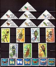MONGOLIE 3 séries:scott#C129-C135/1989-1995/1521-1527/Insectes et papillons G206