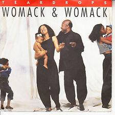 "WOMACK & WOMACK  Teardrops PICTURE SLEEVE NEW 7"" 45 rpm record + juke box strip"