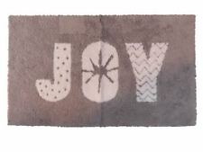 Hd Designs Holiday Bath Rug Gray Joy Skid Resistant Accent Mat 20x34