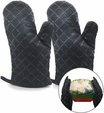 Ingahome Oven Mitts 2pcs Pot Holders Heat Resistant up to 482F/250°C Non-Slip
