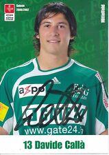 Davide Calla   FC  ST.Gallen  Fußball Autogrammkarte signiert 375336