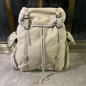 Vintage Gap Canvas Safari Travel Heavy Duty Bag Backpack Large Distressed ACRO