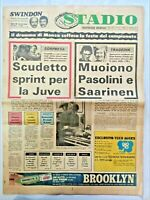 QUOTIDIANO STADIO 21 MAGGIO 1973 JUVENTUS VINCE 15° SCUDETTO FATAL VERONA MILAN
